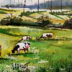 landscape, 15 x 11 inch, prabhakaran parappur,paintings,landscape paintings,paintings for living room,handmade paper,watercolor,15x11inch,GAL0753720803