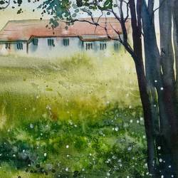 landscape, 16 x 11 inch, prabhakaran parappur,paintings,children paintings,paintings for living room,brustro watercolor paper,watercolor,16x11inch,GAL0753720810