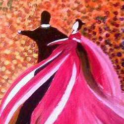 couple painting, 30 x 40 inch, jeevika chavi,paintings,figurative paintings,canvas,acrylic color,30x40inch,GAL01075320825