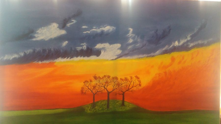 landscape, 36 x 24 inch, sandeep joshi,paintings,realistic paintings,paintings for living room,canvas,oil,36x24inch,GAL0778520839