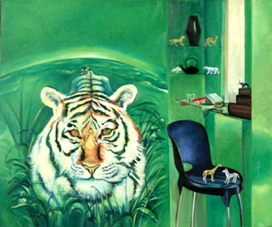 inside and outside, 36 x 48 inch, satyajit chandra chanda,wildlife paintings,nature paintings,paintings for living room,animal paintings,canvas,oil,36x48inch,GAL07502085Nature,environment,Beauty,scenery,greenery