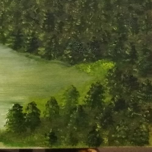 meadow of gold. landscape, 18 x 14 inch, basanti kaul,paintings,landscape paintings,nature paintings,paintings for dining room,paintings for living room,paintings for bedroom,paintings for office,paintings for hotel,paintings for kitchen,paintings for hospital,canvas,oil,18x14inch,GAL01068920899Nature,environment,Beauty,scenery,greenery