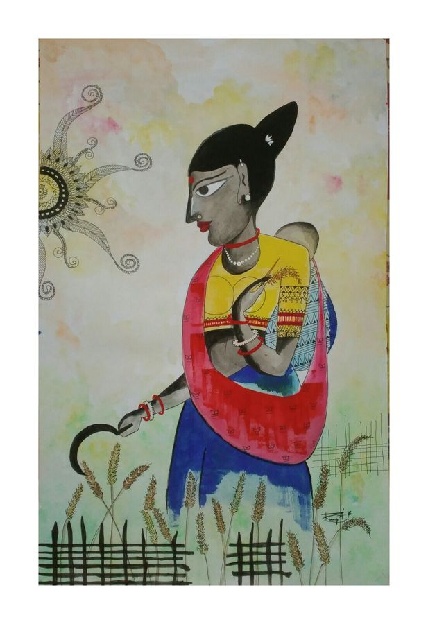 harvest with love, 14 x 22 inch, ramya arumugam,paintings,abstract paintings,wildlife paintings,figurative paintings,nature paintings,expressionist paintings,paintings for dining room,paintings for living room,paintings for bedroom,paintings for office,paintings for kids room,paintings for hotel,paintings for kitchen,paintings for school,paintings for hospital,paintings for dining room,paintings for living room,paintings for bedroom,paintings for office,paintings for kids room,paintings for hotel,paintings for kitchen,paintings for school,paintings for hospital,thick paper,acrylic color,charcoal,pastel color,pen color,pencil color,poster color,watercolor,14x22inch,GAL01066120905Nature,environment,Beauty,scenery,greenery