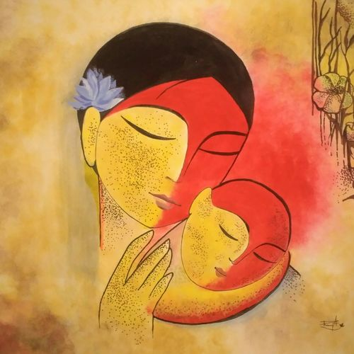 abided love, 17 x 15 inch, ramya arumugam,paintings,abstract paintings,figurative paintings,modern art paintings,paintings for dining room,paintings for living room,paintings for bedroom,paintings for office,paintings for kids room,paintings for hotel,paintings for kitchen,paintings for school,paintings for hospital,paintings for dining room,paintings for living room,paintings for bedroom,paintings for office,paintings for kids room,paintings for hotel,paintings for kitchen,paintings for school,paintings for hospital,thick paper,acrylic color,charcoal,pastel color,pen color,pencil color,poster color,watercolor,ball point pen,17x15inch,GAL01066120907