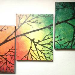 change of seasons, 27 x 18 inch, reshma  iqbal,modern art paintings,paintings for living room,canvas,acrylic color,27x18inch,GAL07622091