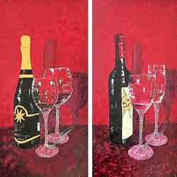 for the bar, 26 x 25 inch, shilpi singh patel,paintings,still life paintings,impressionist paintings,contemporary paintings,paintings for dining room,paintings for living room,paintings for hotel,canvas,oil,26x25inch,GAL045520916