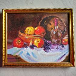 canvas painting, 10 x 7 inch, s rajitha,paintings,still life paintings,canvas,oil,10x7inch,GAL01085320951