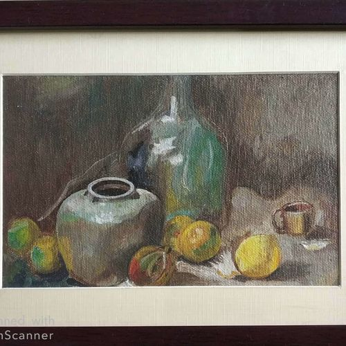 canvas painting, 8 x 5 inch, s rajitha,paintings,still life paintings,canvas,oil,8x5inch,GAL01085320952