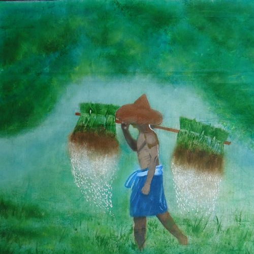 farmer, 17 x 21 inch, parthiban n,paintings,nature paintings,paintings for dining room,paintings for living room,paintings for office,paintings for hotel,paintings for school,paintings for dining room,paintings for living room,paintings for office,paintings for hotel,paintings for school,canvas,oil,17x21inch,GAL01086820962Nature,environment,Beauty,scenery,greenery