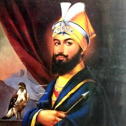 guru gobind singh, 19 x 23 inch, balbir art  gallery,paintings,religious paintings,canvas,oil,19x23inch,GAL01076520976