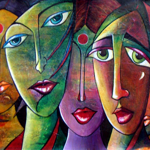 emotional rhythm, 30 x 13 inch, neeraj parswal,modern art paintings,paintings for living room,paintings for office,love paintings,canvas,acrylic color,30x13inch,GAL0921