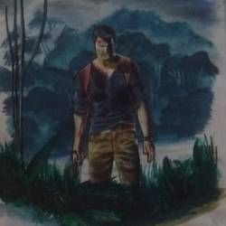 uncharted 4 , 9 x 11 inch, edzel lewis,abstract drawings,paintings for living room,paper,pencil color,9x11inch,GAL07322100