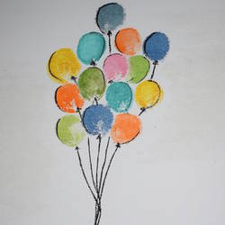 balloons, 12 x 16 inch, sandhiya ganesh,paintings,realistic paintings,canvas,watercolor,12x16inch,GAL01068221012