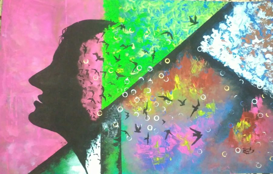 wings, 22 x 14 inch, ramya arumugam,paintings,abstract paintings,modern art paintings,abstract expressionist paintings,paintings for dining room,paintings for living room,paintings for bedroom,paintings for office,paintings for bathroom,paintings for kids room,paintings for hotel,paintings for kitchen,paintings for school,paintings for hospital,thick paper,acrylic color,pastel color,pen color,pencil color,poster color,watercolor,22x14inch,GAL01066121018