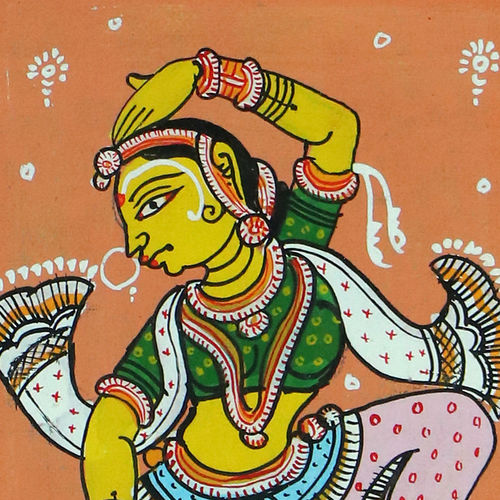 handcrafted patachitra cotton based for home decor, 11 x 9 inch, adi creative solution,paintings,abstract paintings,folk art paintings,still life paintings,cloth,fabric,natural color,11x9inch,GAL01096421051