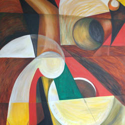 composition 2, 38 x 42 inch, chandana chakraborty,paintings,abstract paintings,modern art paintings,canvas,oil,38x42inch,GAL01096721053