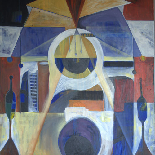 composition 3, 38 x 42 inch, chandana chakraborty,paintings,abstract paintings,modern art paintings,canvas,oil,38x42inch,GAL01096721054