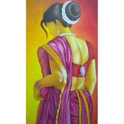 uma, 24 x 36 inch, atul patel,paintings,realistic paintings,canvas,oil,24x36inch,GAL01091421082