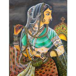 padmavati, 24 x 36 inch, atul patel,paintings,miniature painting.,canvas,acrylic color,24x36inch,GAL01091421083