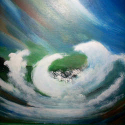 waves, 12 x 12 inch, rajwant  kaur,abstract paintings,paintings for dining room,ply board,acrylic color,12x12inch,GAL08162110