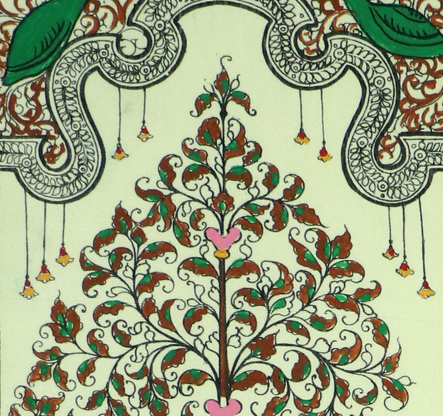 Hypothetical painting of a tree on silk 2
