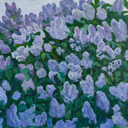 lilac is blooming, 26 x 30 inch, moesey li,flower paintings,paintings for bedroom,paintings,canvas,oil paint,26x30inch,GAL07182113