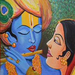 radha krishna, 30 x 22 inch, tejal deshpande,paintings,radha krishna paintings,canvas,acrylic color,30x22inch,GAL01093921132,radhakrishna,love,pece,lordkrishna,,lordradha,peace,flute,music,radha,krishna,devotion,couple