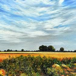 countryside i, 22 x 16 inch, milind  sharma ,paintings,landscape paintings,nature paintings,realistic paintings,paintings for dining room,paintings for living room,paintings for bedroom,paintings for office,paintings for kids room,paintings for hotel,paintings for hospital,canvas,oil,22x16inch,GAL01104521139Nature,environment,Beauty,scenery,greenery