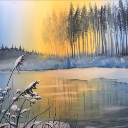 winter landscape painting, 20 x 30 inch, snehalata ghosh,paintings,landscape paintings,nature paintings,paintings for living room,paintings for bedroom,canvas,acrylic color,20x30inch,GAL01103921144Nature,environment,Beauty,scenery,greenery