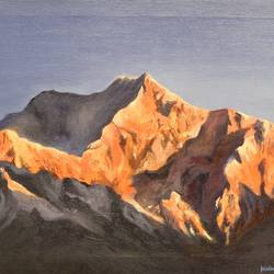 golden peaks , 24 x 18 inch, milind  sharma ,paintings,landscape paintings,nature paintings,paintings for dining room,paintings for living room,paintings for bedroom,paintings for office,paintings for hotel,paintings for kitchen,paintings for school,paintings for hospital,canvas,oil,24x18inch,GAL01104521145Nature,environment,Beauty,scenery,greenery