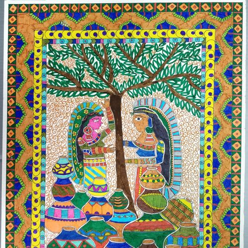 village talks, 10 x 15 inch, yesha pabari,paintings,madhubani paintings,paintings for dining room,paintings for living room,paintings for bedroom,paintings for office,paintings for bathroom,paintings for kids room,paintings for hotel,paintings for kitchen,paintings for school,paintings for dining room,paintings for living room,paintings for bedroom,paintings for office,paintings for bathroom,paintings for kids room,paintings for hotel,paintings for kitchen,paintings for school,canson paper,pen color,10x15inch,GAL01105021152