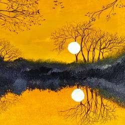 golden sunlight, 60 x 40 inch, nilima biswas,paintings,abstract paintings,conceptual paintings,nature paintings,paintings for dining room,paintings for living room,paintings for bedroom,paintings for office,paintings for hotel,paintings for kitchen,canvas,acrylic color,60x40inch,GAL01106721181Nature,environment,Beauty,scenery,greenery