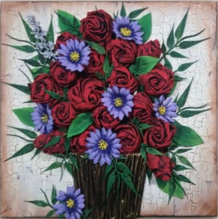 3d painting, 20 x 26 inch, snehalata ghosh,paintings,flower paintings,paintings for bedroom,paintings for bedroom,canvas,acrylic color,20x26inch,GAL01103921189