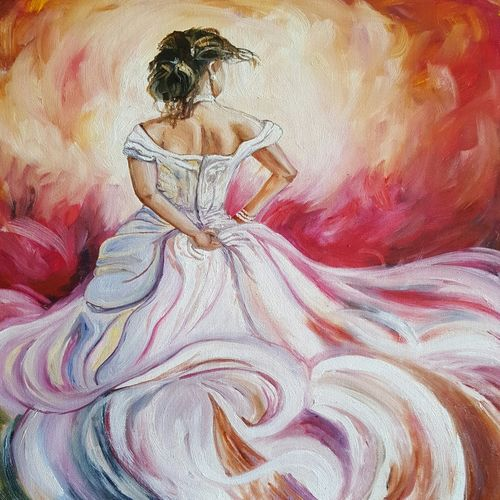 the bride, 16 x 20 inch, amaey parekh,figurative paintings,paintings for bedroom,canvas,oil,16x20inch,GAL075212