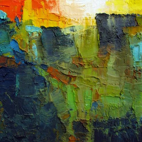 may-ii, 15 x 15 inch, abhishek kumar,abstract paintings,paintings for bedroom,canvas,oil,15x15inch,GAL07872122