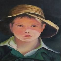 portrait, 12 x 16 inch, bablu pramanik,paintings,portrait paintings,oil sheet,oil,12x16inch,GAL0773821220