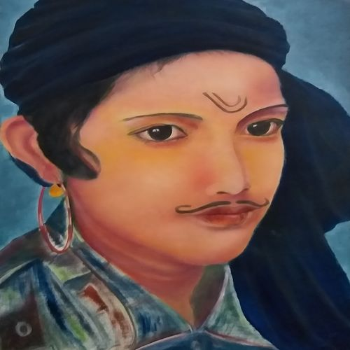 portrait, 12 x 16 inch, bablu pramanik,paintings,portrait paintings,oil sheet,oil,12x16inch,GAL0773821221