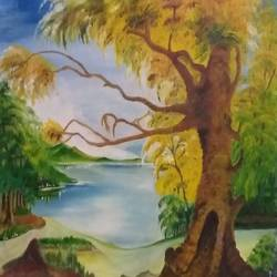 nature , 16 x 12 inch, bablu pramanik,paintings,nature paintings,oil sheet,oil,16x12inch,GAL0773821228Nature,environment,Beauty,scenery,greenery