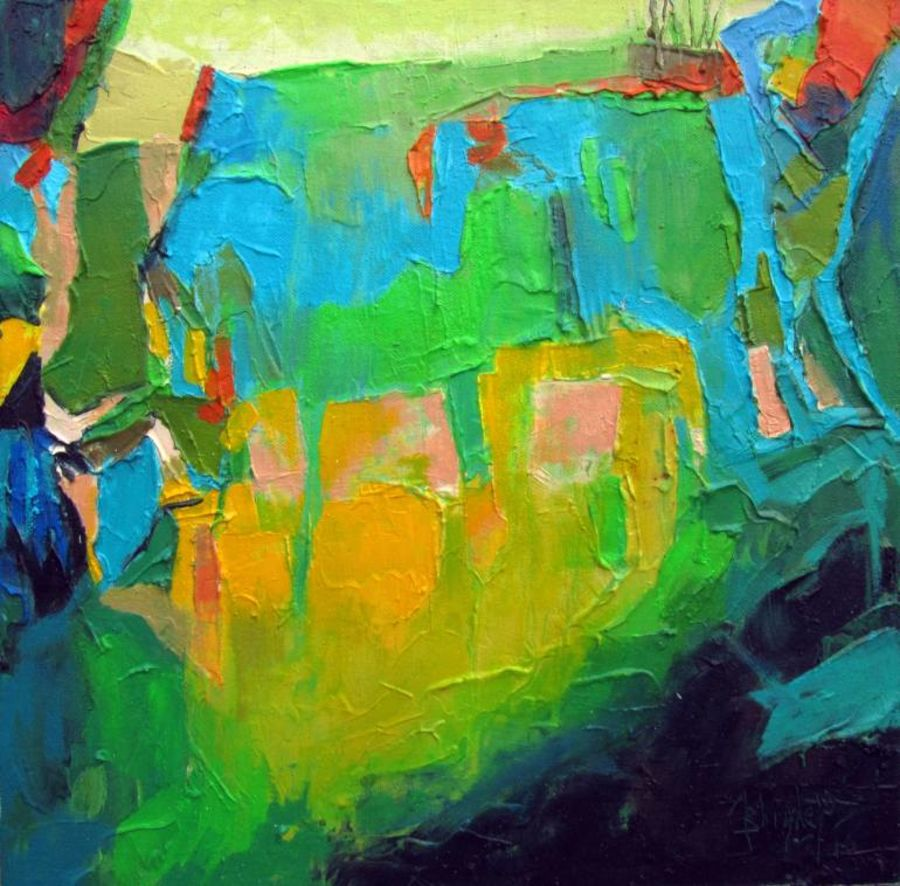 spring fragrant, 15 x 15 inch, abhishek kumar,abstract paintings,paintings for bedroom,canvas,oil,15x15inch,GAL07872123