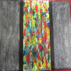 abstract textured painting, 40 x 26 inch, nia fine arts,paintings,abstract paintings,canvas,acrylic color,fabric,40x26inch,GAL01101221239