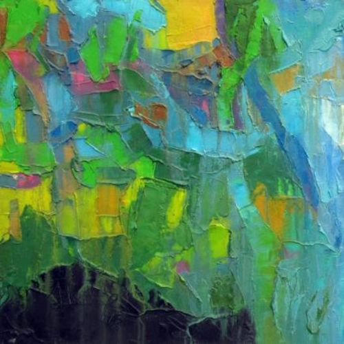 yellow and green lights, 36 x 20 inch, abhishek kumar,abstract paintings,paintings for bedroom,canvas,oil,36x20inch,GAL07872124