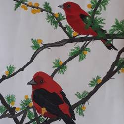 bird, 14 x 22 inch, pranav bhatnagar,paintings,wildlife paintings,paintings for dining room,paintings for living room,paintings for bedroom,paintings for office,paintings for kids room,paintings for school,paintings for hospital,ivory sheet,poster color,14x22inch,GAL0280221262