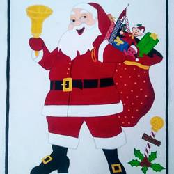 santa clause, 16 x 22 inch, geeta kwatra,paintings,abstract paintings,paintings for kids room,canvas,acrylic color,16x22inch,GAL0899121275