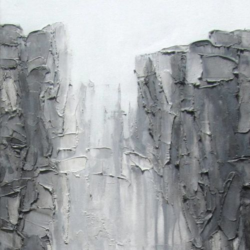 grey depth #1, 16 x 48 inch, abhishek kumar,abstract paintings,paintings for bedroom,paintings,canvas,oil,16x48inch,GAL07872128