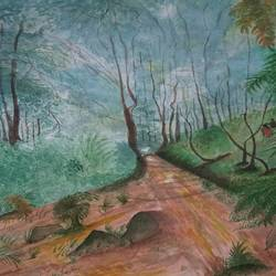 nature , 18 x 24 inch, bablu pramanik,paintings,nature paintings,oil sheet,acrylic color,18x24inch,GAL0773821320Nature,environment,Beauty,scenery,greenery