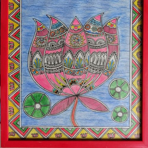 lotus, 8 x 12 inch, akanksha sinha,paintings,flower paintings,folk art paintings,nature paintings,madhubani paintings,paintings for dining room,paintings for living room,paintings for bedroom,paintings for office,paintings for hotel,paintings for school,paintings for dining room,paintings for living room,paintings for bedroom,paintings for office,paintings for hotel,paintings for school,paper,ink color,pen color,pencil color,8x12inch,GAL01104121328Nature,environment,Beauty,scenery,greenery