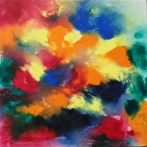 meaning less, 12 x 8 inch, bablu pramanik,paintings,abstract paintings,canvas,acrylic color,12x8inch,GAL0773821330