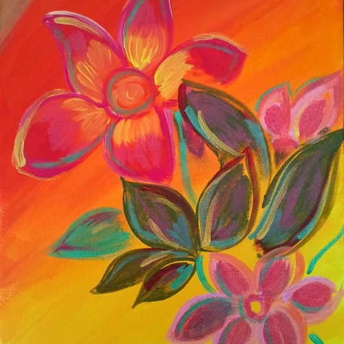blooming flowers, 10 x 12 inch, harshita chandel,paintings,flower paintings,nature paintings,paintings for dining room,paintings for bedroom,paintings for office,paintings for kids room,paintings for hotel,paintings for kitchen,paintings for school,paintings for hospital,canvas board,acrylic color,fabric,10x12inch,GAL01115421336Nature,environment,Beauty,scenery,greenery