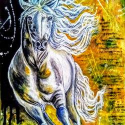 the running horse through time, 12 x 16 inch, kyameliya mandal,paintings,abstract paintings,wildlife paintings,horse paintings,paintings for living room,paintings for bedroom,paintings for office,paintings for living room,paintings for bedroom,paintings for office,canvas,acrylic color,12x16inch,GAL0835321343