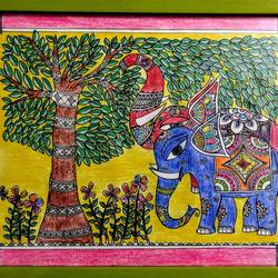 wild & free, 12 x 8 inch, akanksha sinha,paintings,folk art paintings,madhubani paintings,paintings for dining room,paintings for living room,paintings for bedroom,paintings for office,paintings for kids room,paintings for hotel,paintings for school,paintings for hospital,paintings for dining room,paintings for living room,paintings for bedroom,paintings for office,paintings for kids room,paintings for hotel,paintings for school,paintings for hospital,elephant paintings,paper,ink color,pen color,pencil color,12x8inch,GAL01104121349